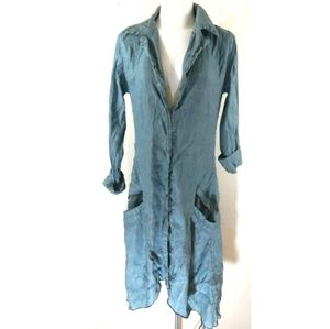 Cynthia Ashby Lagenlook Button Front Tunic Top